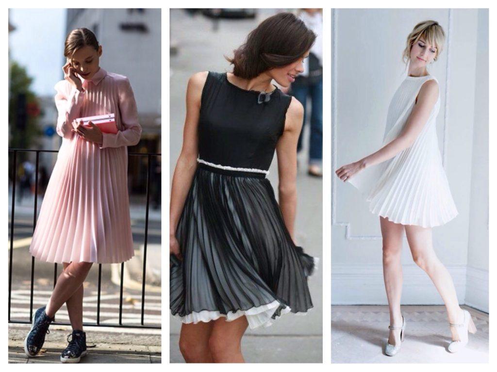 С чем носить платья плиссе