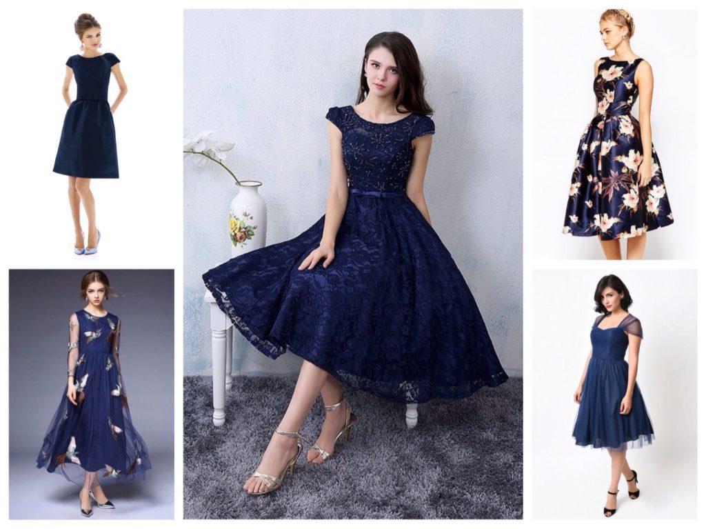 темно-синие платья