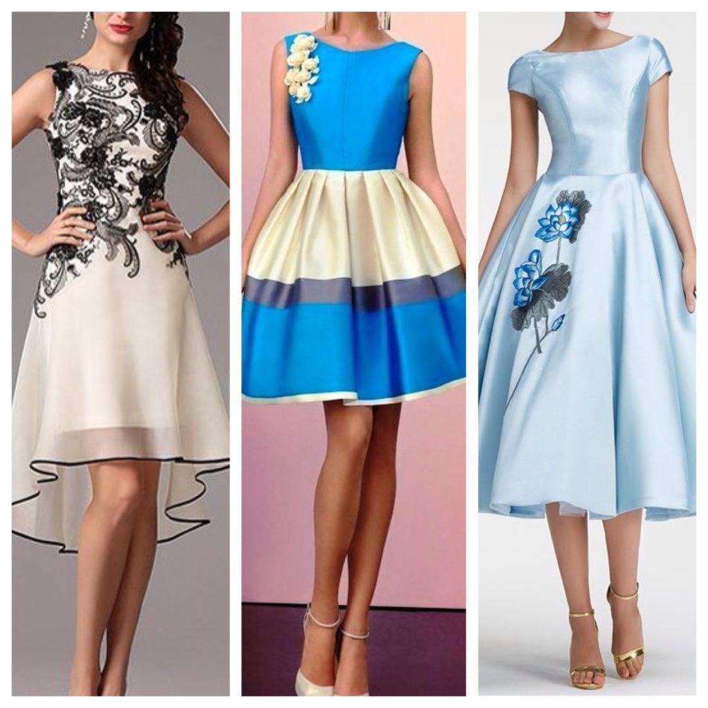 вариации отделки платья