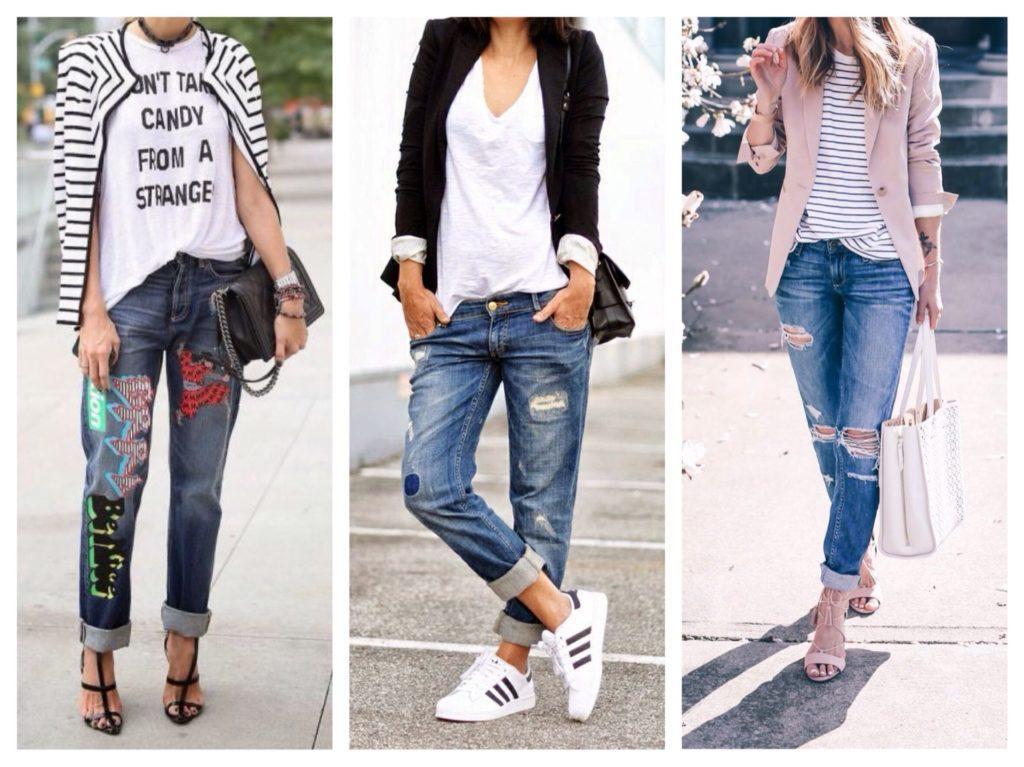 футболка под пиджак с джинсами