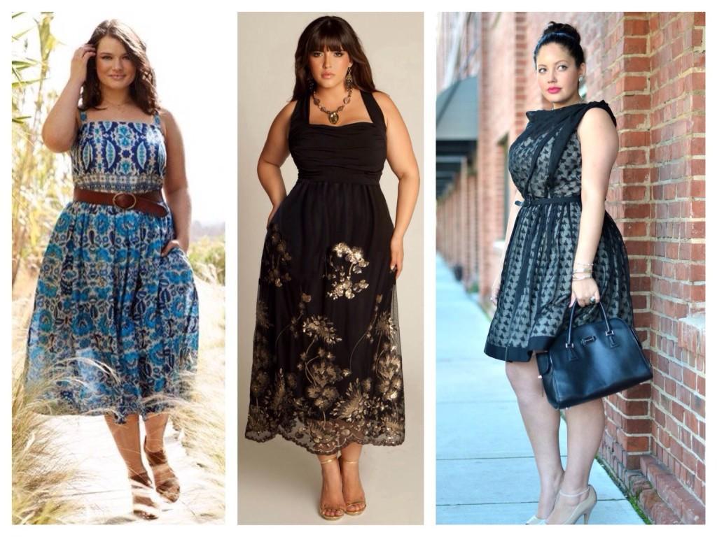 варианты летних платьев для полных