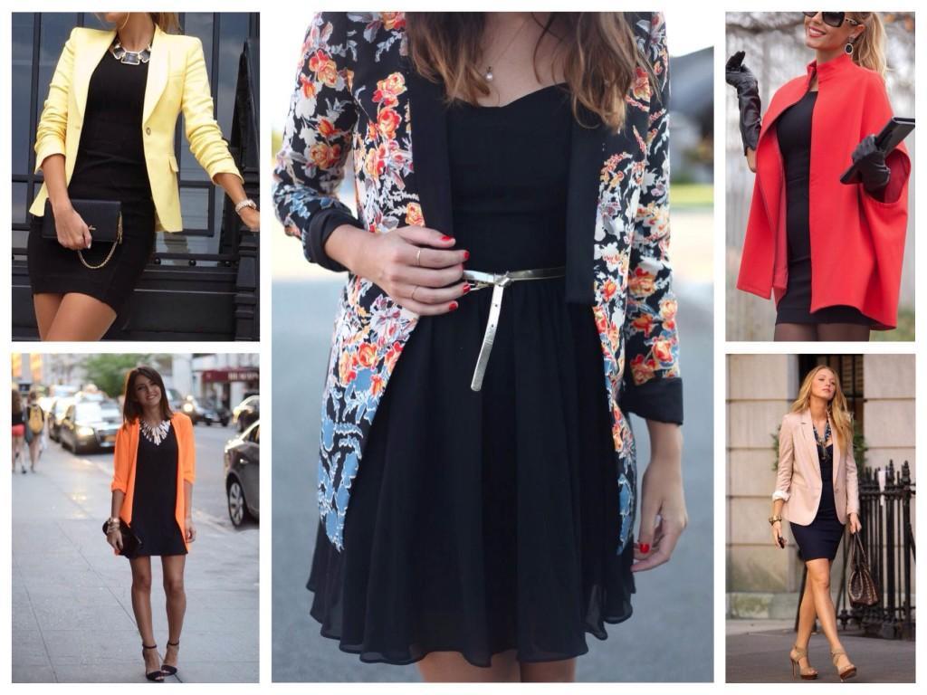 Черное платье и пиджак