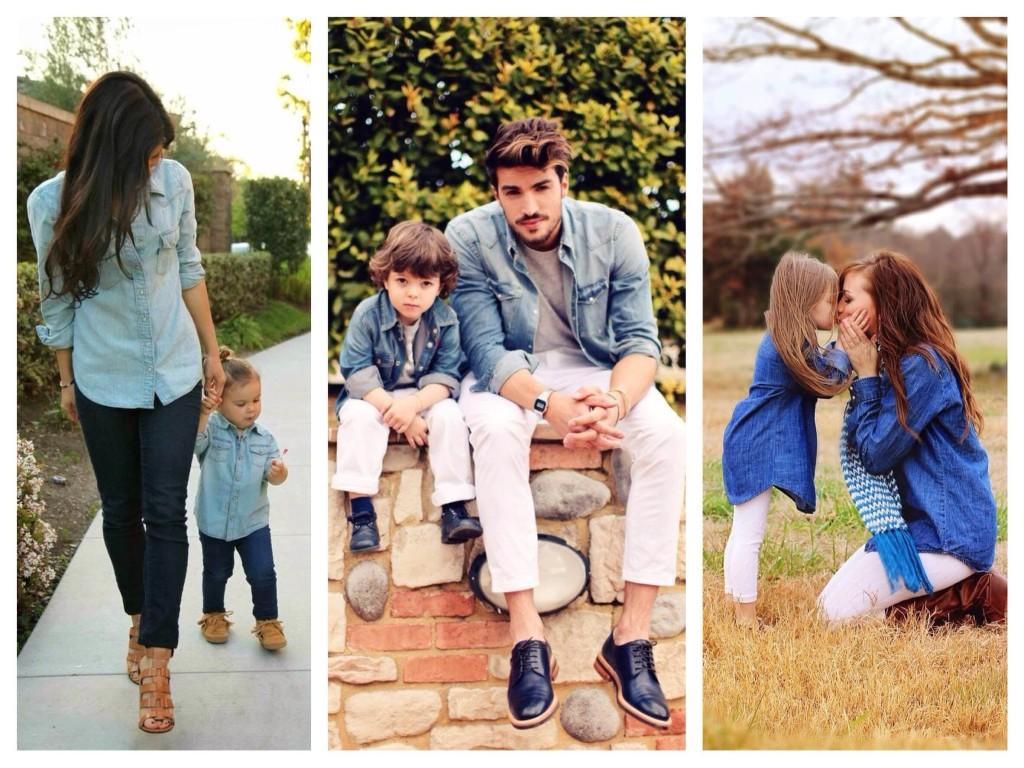 Джинсовый family look
