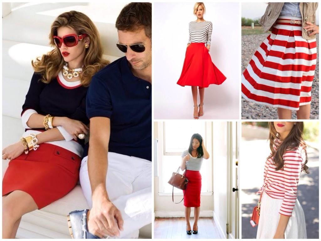 Красный белый синий сочетания стилевых цветов