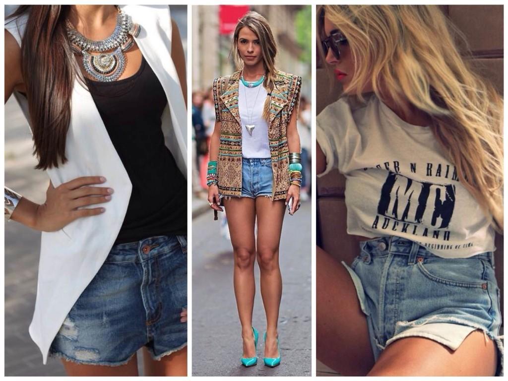 Модные образы шорт с завышенной талией