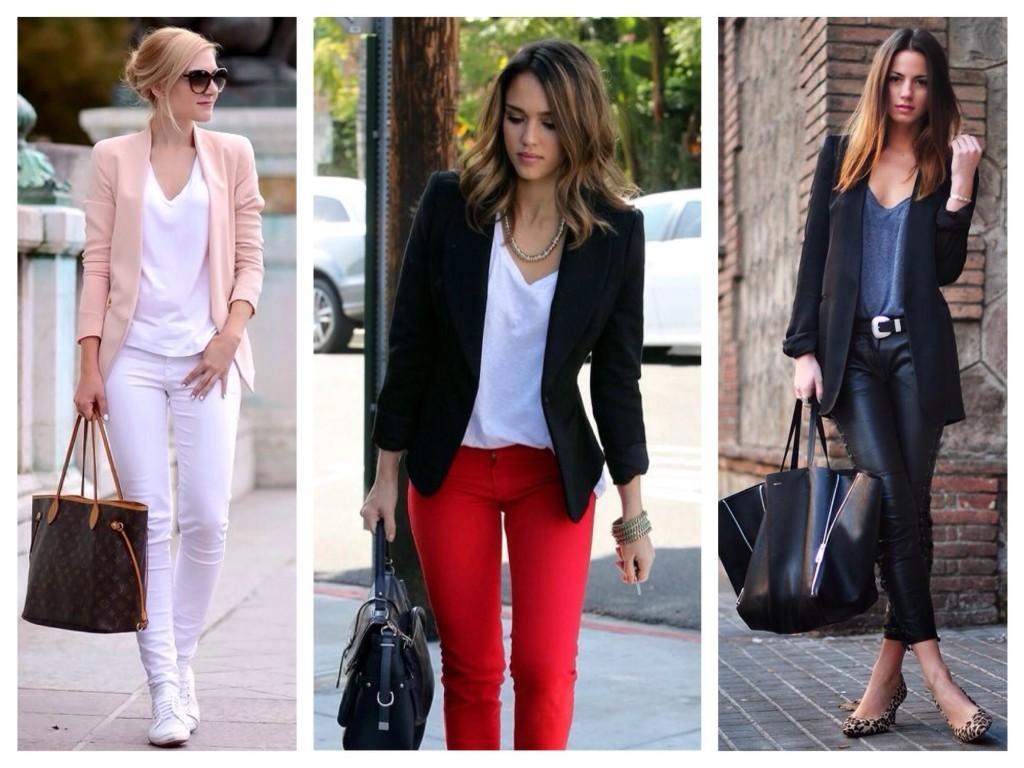 Образы с узкими брюками