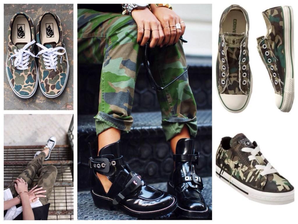 Обувь в стиле Military