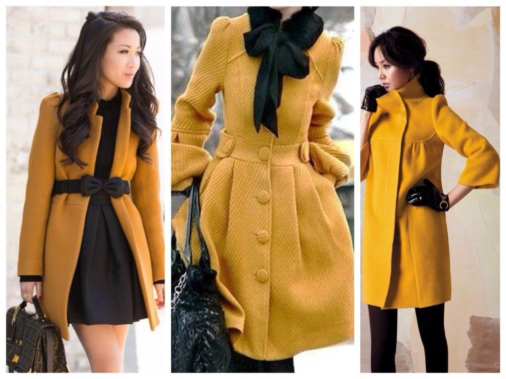 Пальто насыщенного оттенка
