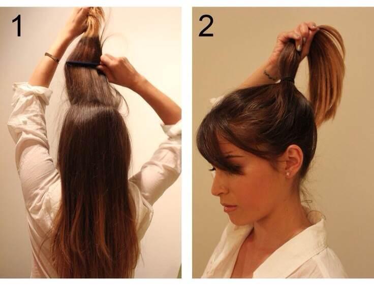 Прическа шаг 1 и 2