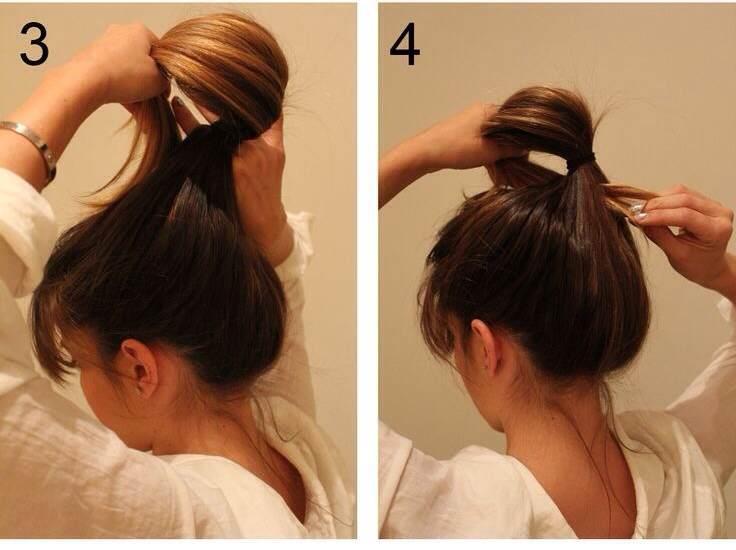 Прическа шаг 3 и 4
