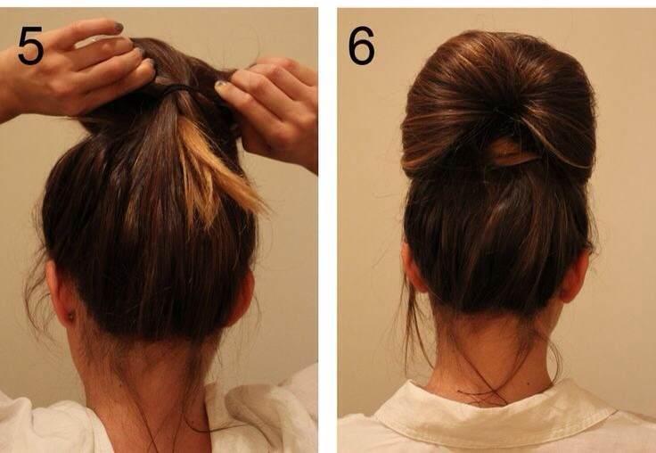Прическа шаг 5 и 6