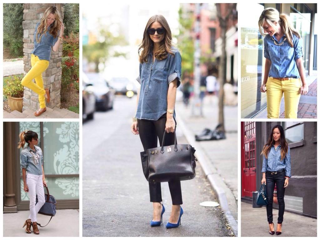 С джинсами и брюками