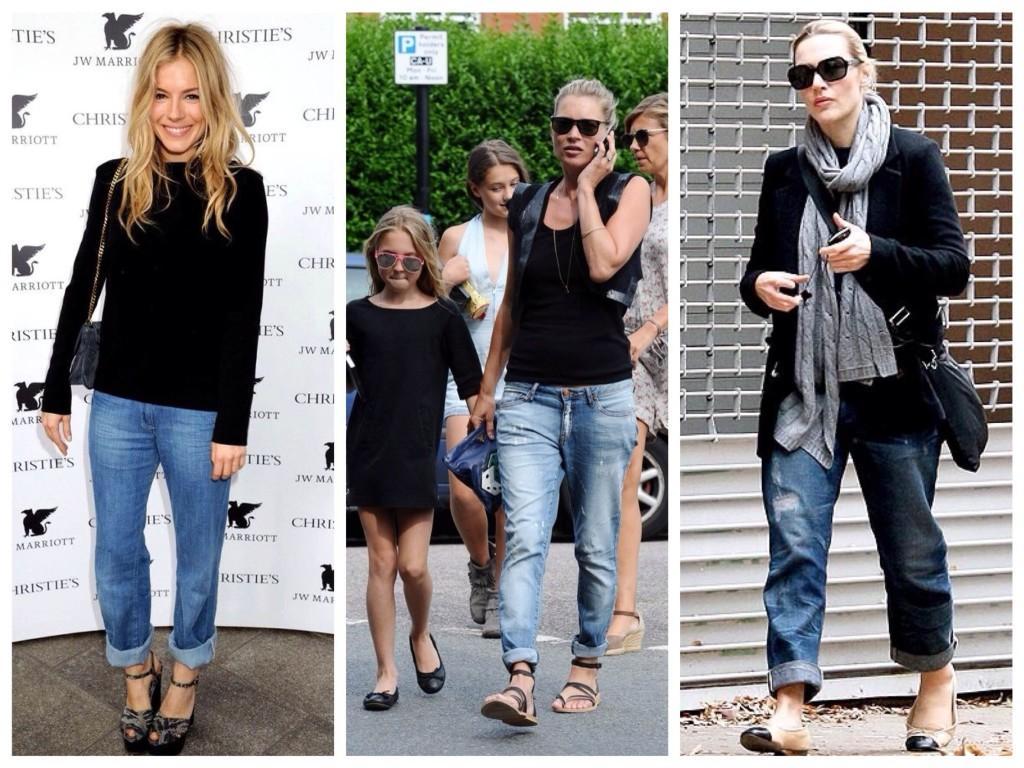 Селебрити в джинсах бойфрендах