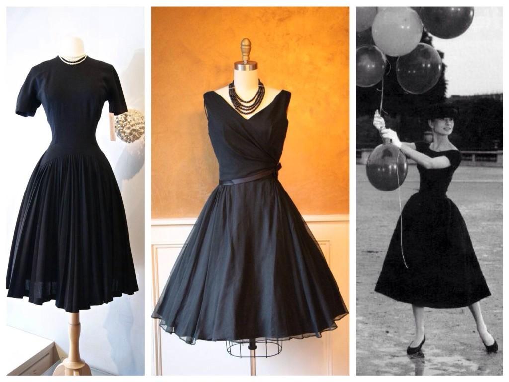Силуэты  платья 50х