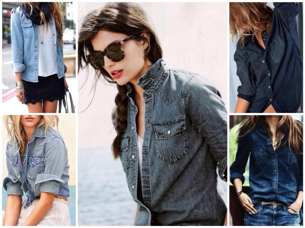 Варианты джинсовых рубашек