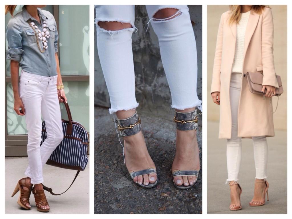 Босоножки с узкими джинсами