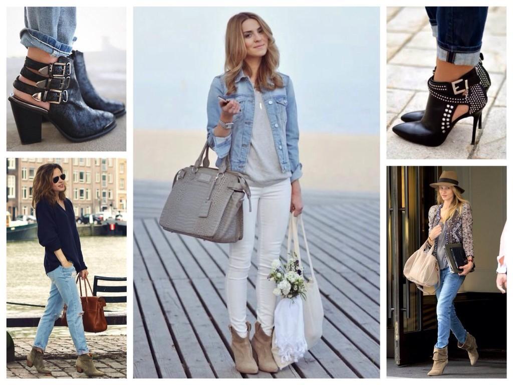 Ботильоны и ботинки для джинсовых комплектов