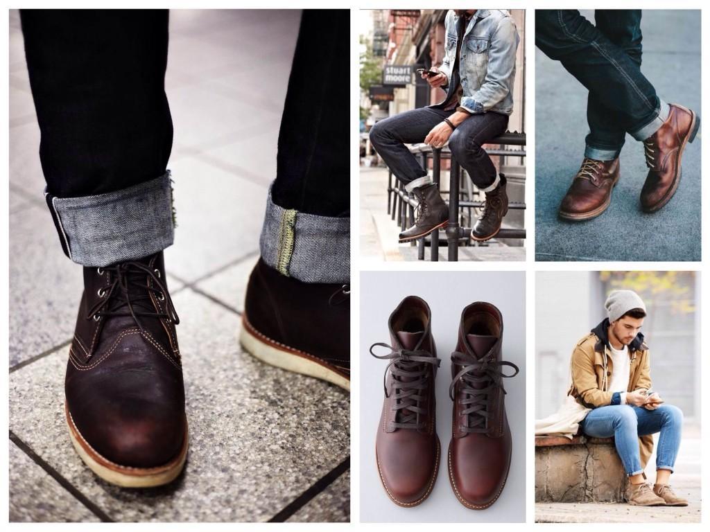Ботинки под джинсы