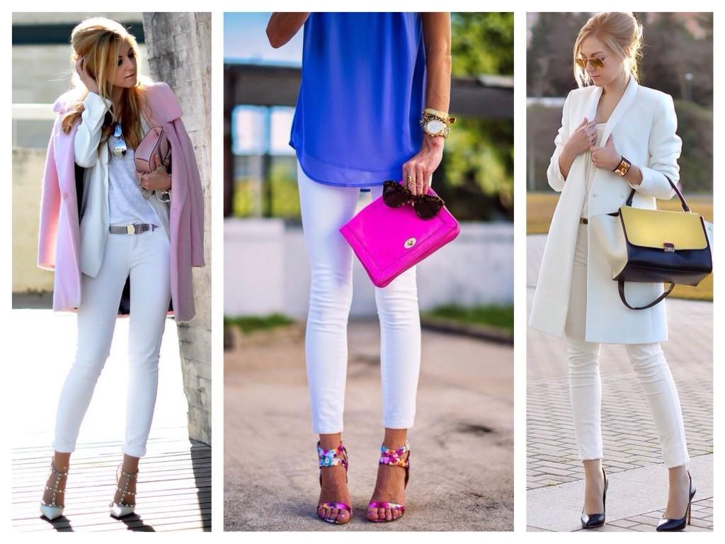 Комплекты с белыми джинсами скинни