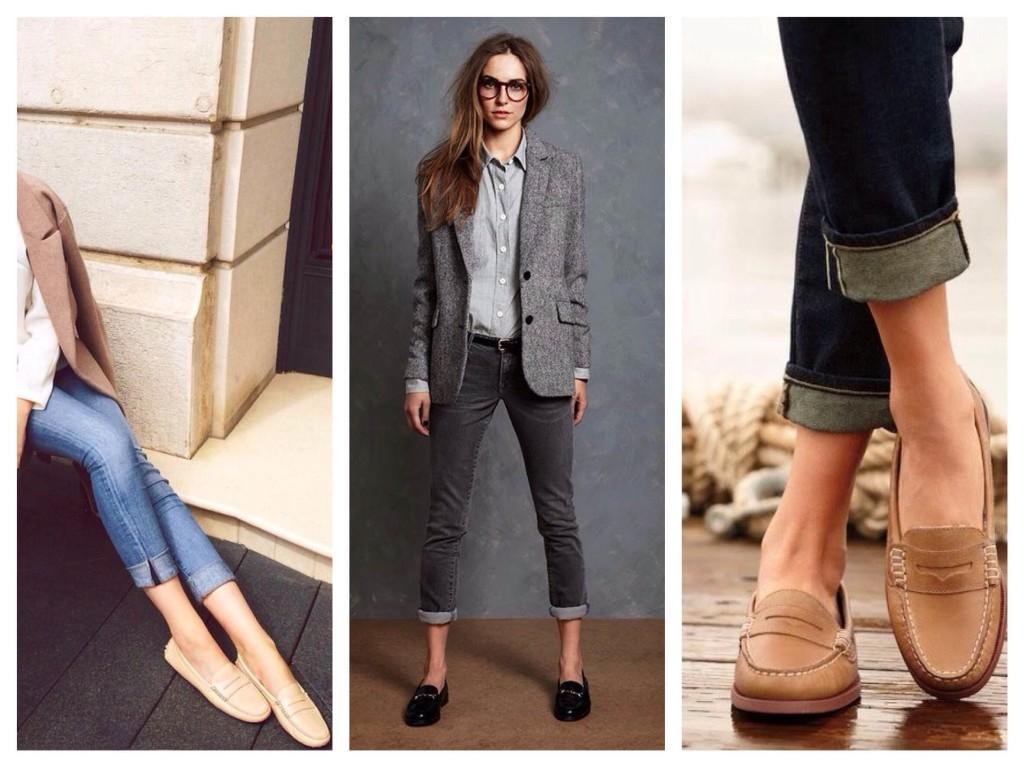 Лоферы и джинсы
