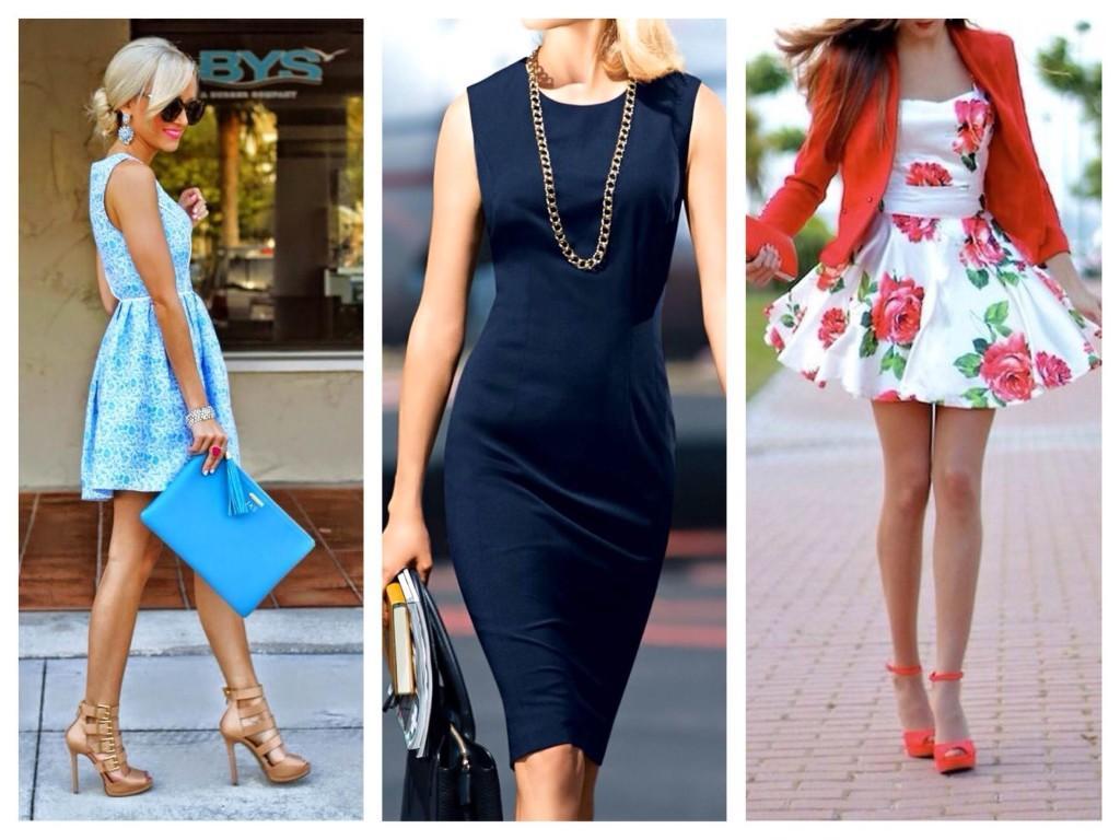 Модели платьев для прогулок и работы