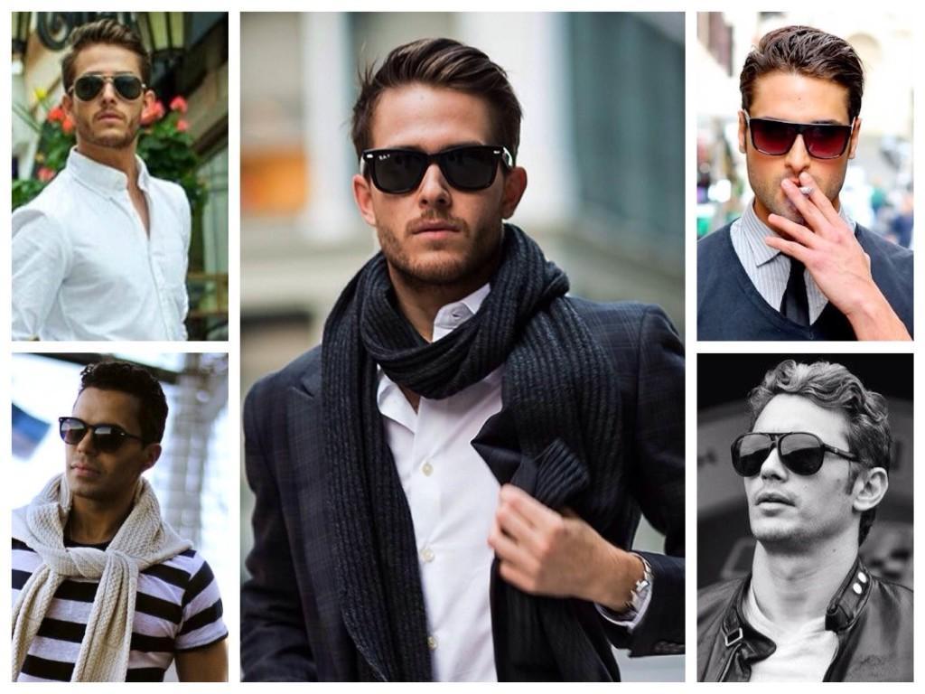 Мужские образы с солнцезащитными очками