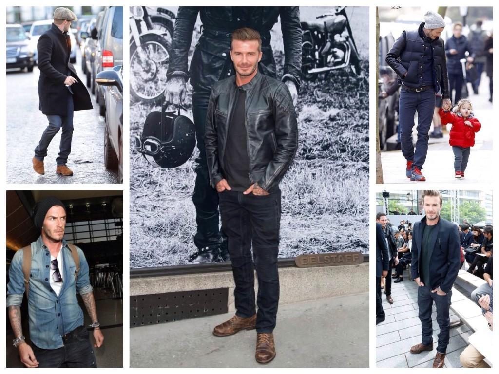Образы с прямыми джинсами Дэвида Бекхэма