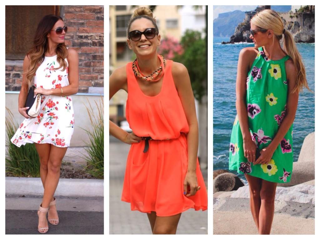 Сарафаны и платья ярких расцветок и принтов