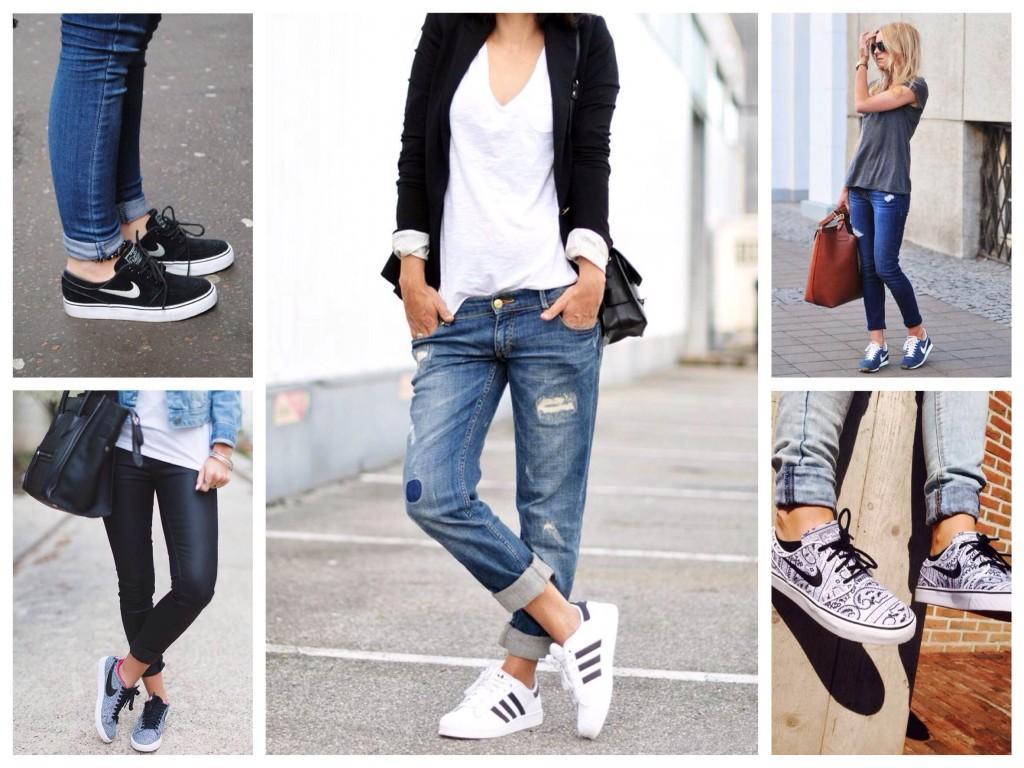 Сочетание с кроссовками