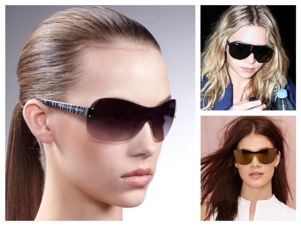 Солнцезащитные очки формы Shield Щит