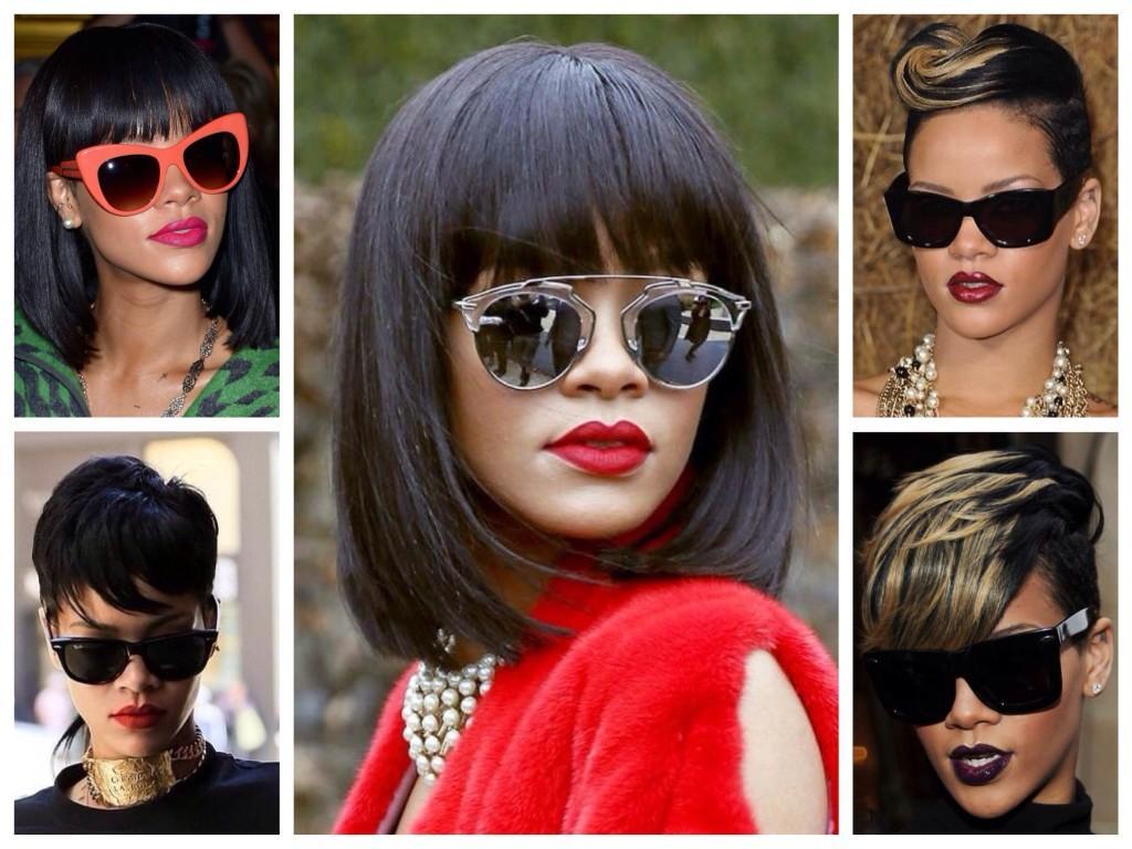 Солнцезащитные очки в образах Рианны