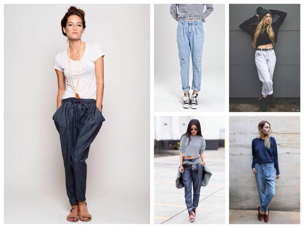 Свободные джинсы и обувь под них