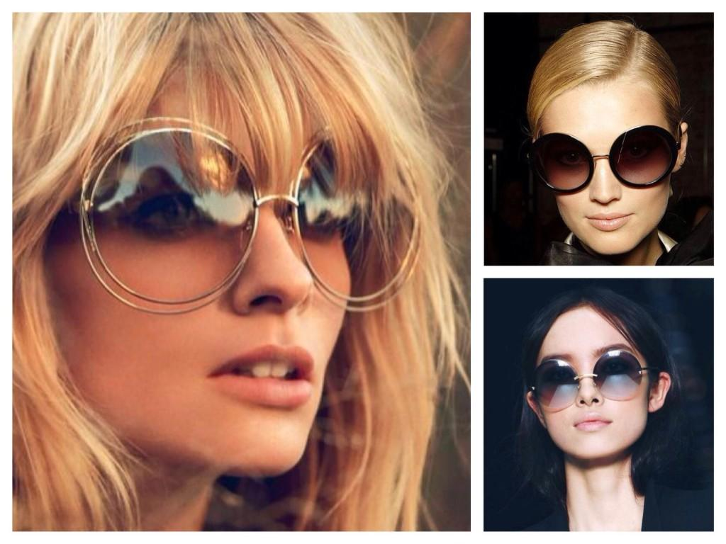Варианты крыглых солнцезащитных очков