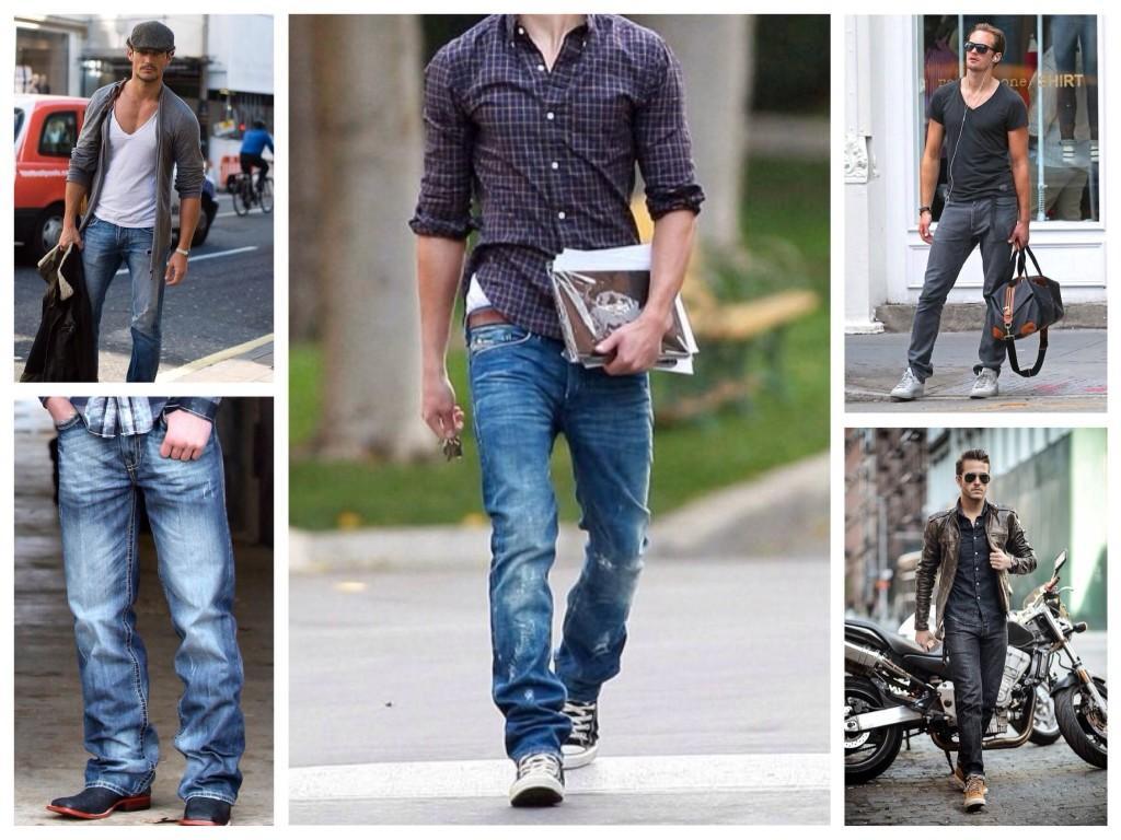 Варианты прямых мужских джинсов