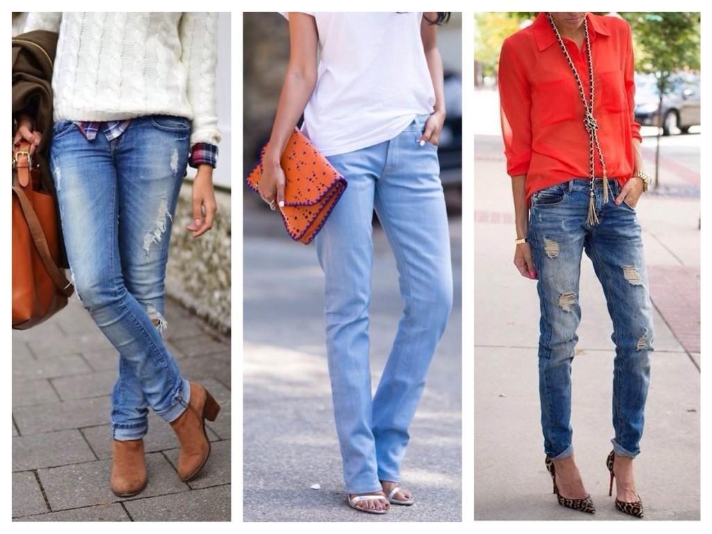 Выбор обуви под прямой крой джинс