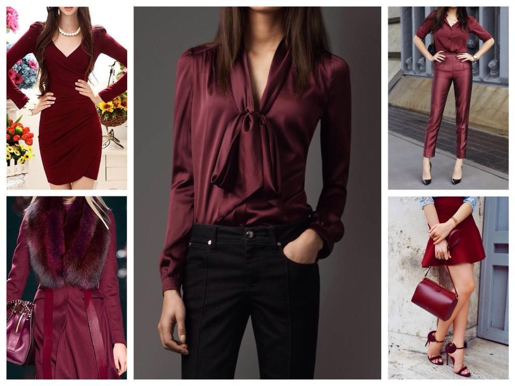 Богатство цвета марсала в одежде