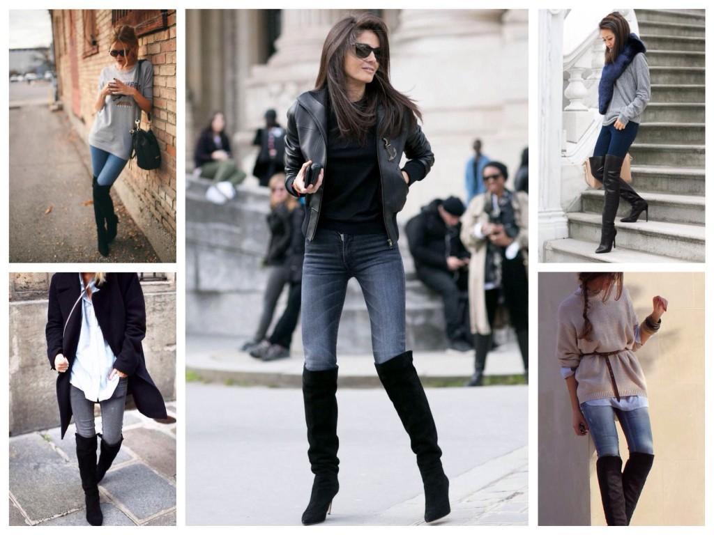 Ботфорты с джинсами