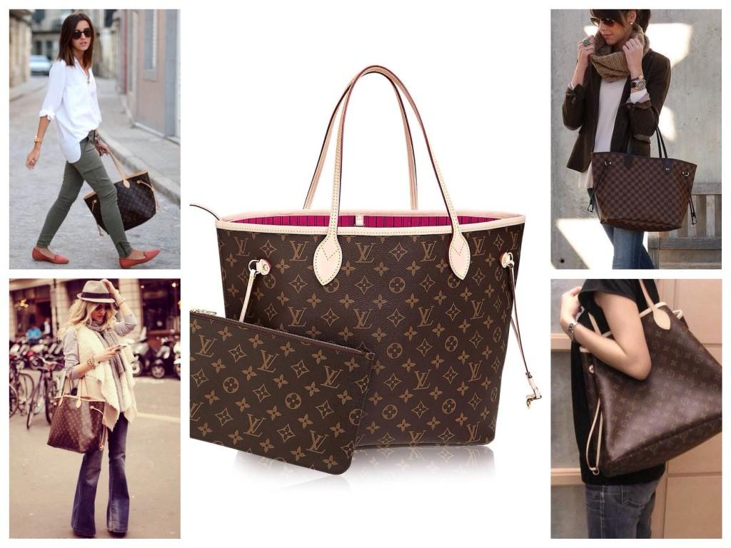 Известная форма сумки шоппер Neverfull от Louis Vuitton