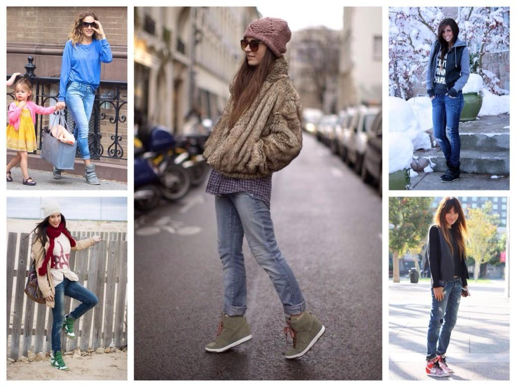 Комплекты сникерсов и джинсов
