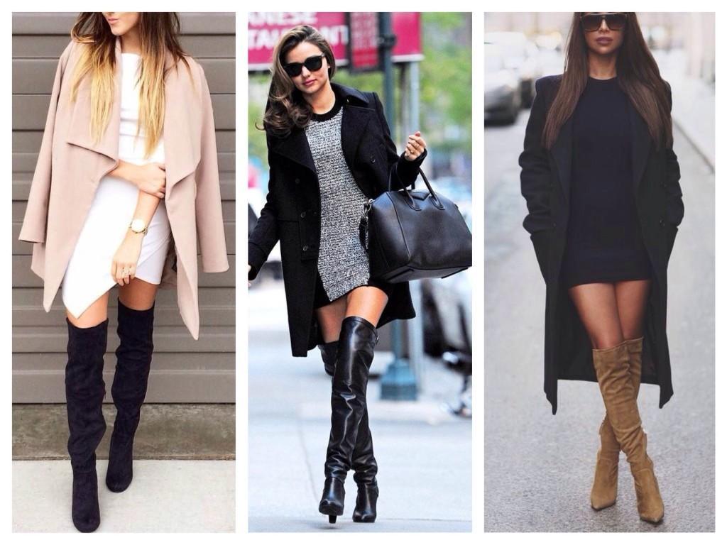 Пальто плюс ботфорты