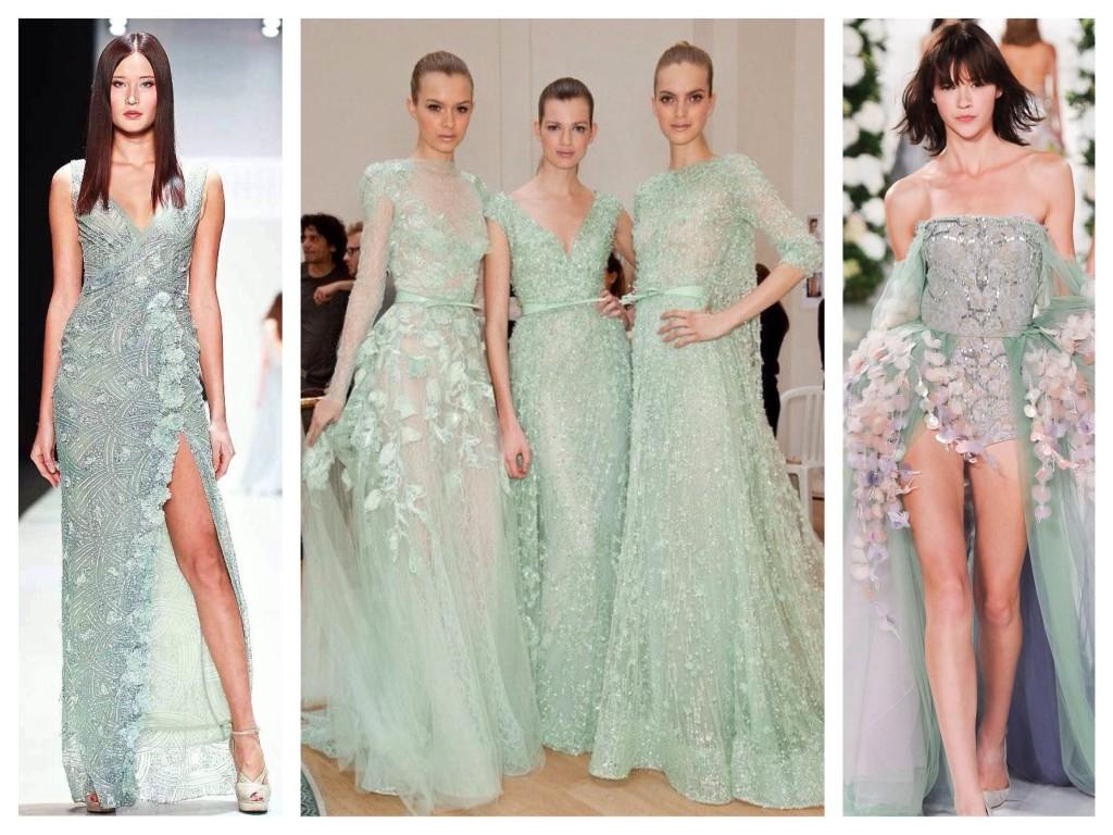 Фото платьев цвет мяты
