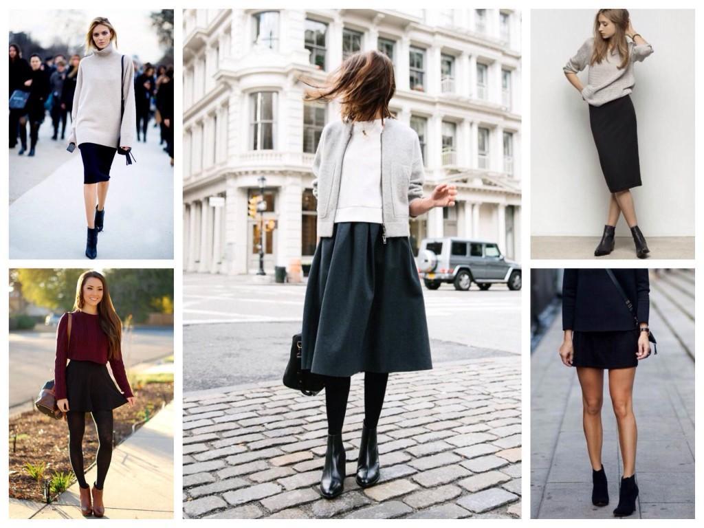 В сочетании с юбками
