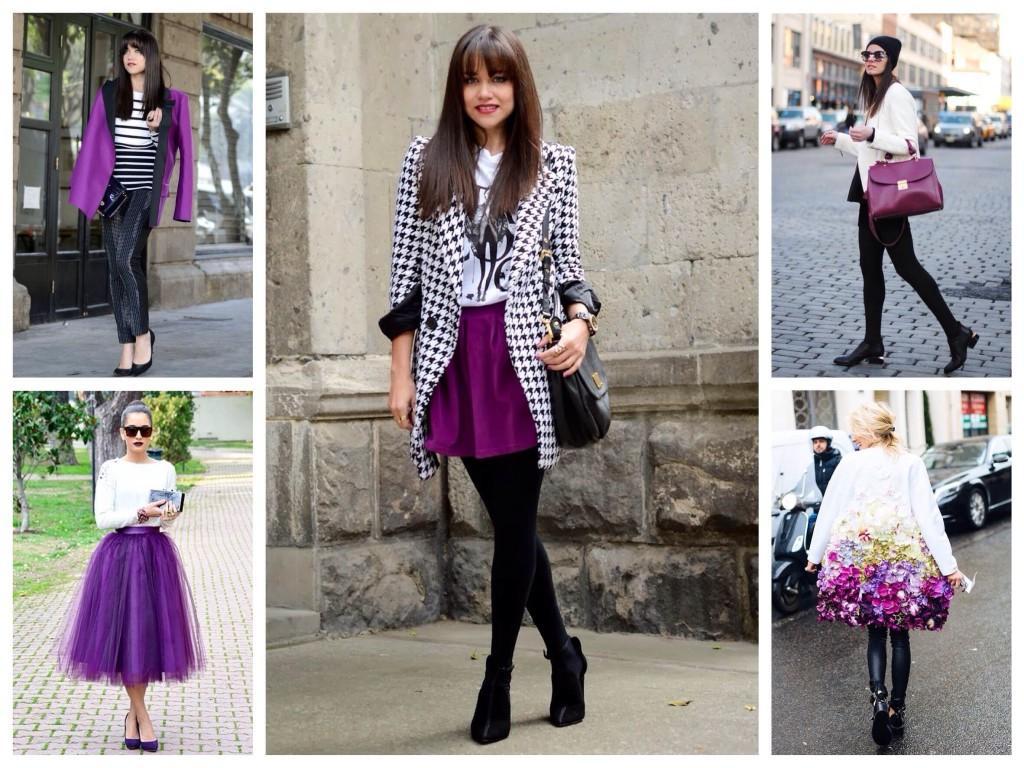 Белый с фиолетовым цветом