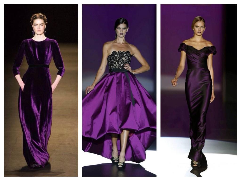 Фиолетовый цвет на подиумах