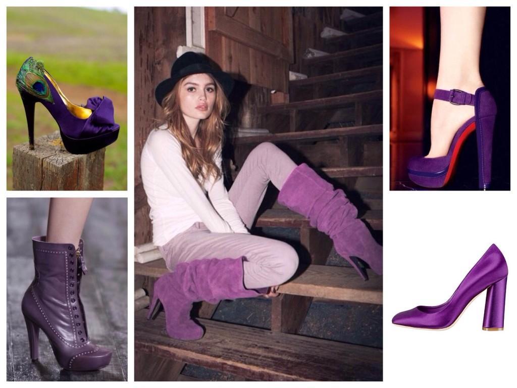 Обувь фиолетовых оттенков