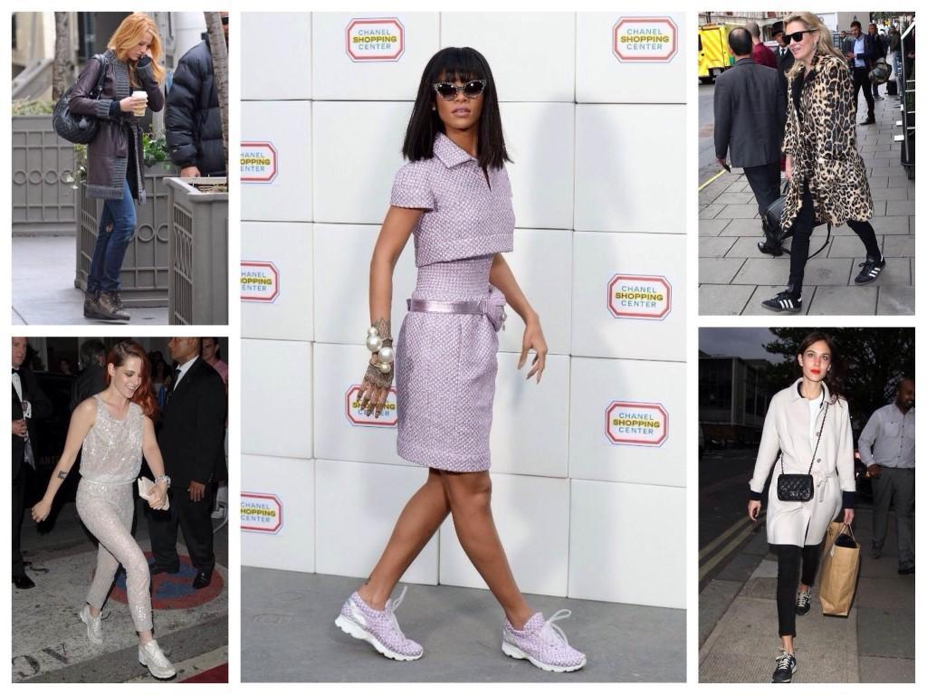 Спортивная обувь Шанель в луках звезд и блоггеров
