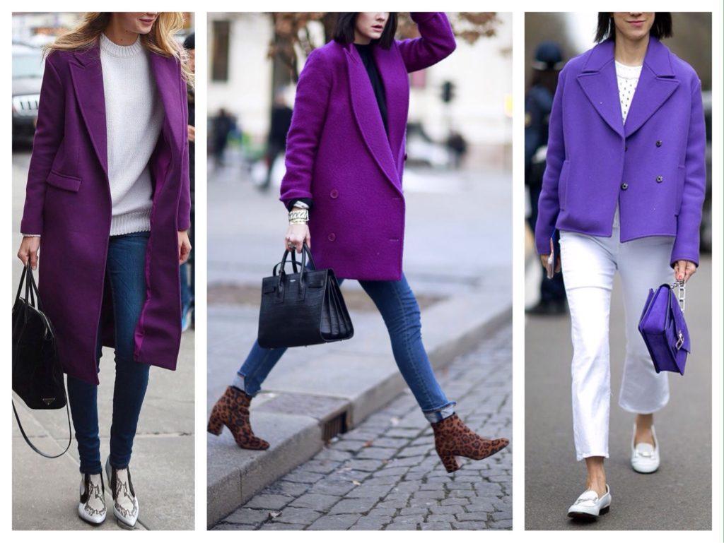 фиолетовые пальто