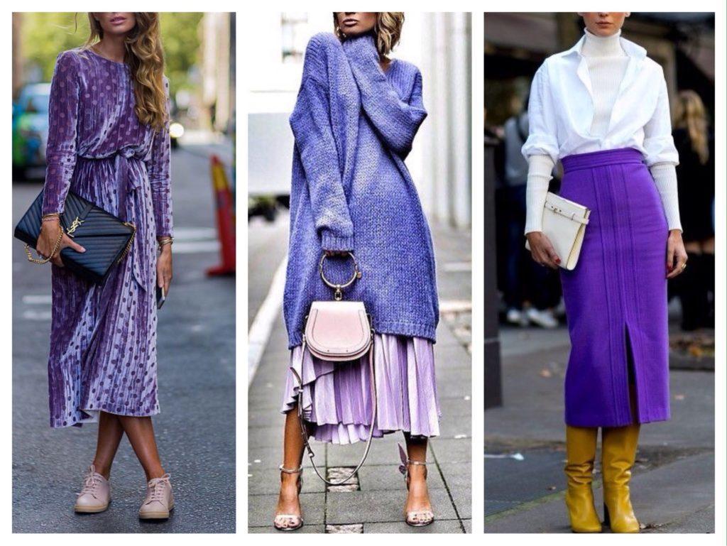 образы street style с фиолетовым