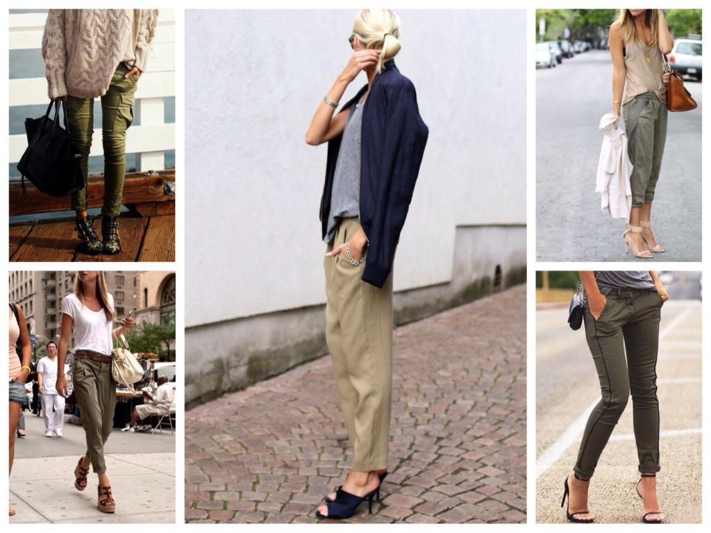 варианты оттенков брюк