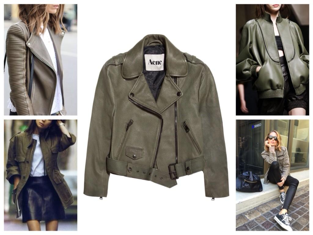 куртки и жакеты хаки